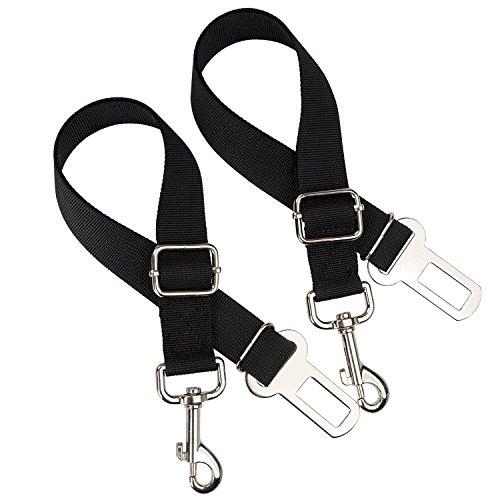 Perro Cinturón de Seguridad Coche Vehículo Seguridad Cinturón de Seguridad Plomo de Nailon Ajustable (lote de 2)