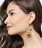 YouBella Golden Plated Hoop Earrings for Women (Golden)(YBEAR_31070)