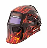 Proteco-Werkzeug® P800E Flame Automatik Schweißhelm inkl 10 Ersatzgläser Solar Schweisshelm Schweissmaske Schweißschild Automatikhelm