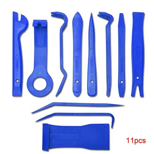 Clip 11pcs de radio auto del coche panel de la puerta interior panel de herramientas del salpicadero herramienta de eliminación de primer set Herramienta Reparación de bricolaje Lorjoy