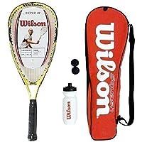 Wilson Ripper Junior Squash Racket Set with Bag, Waterbottle & Balls RRP £75
