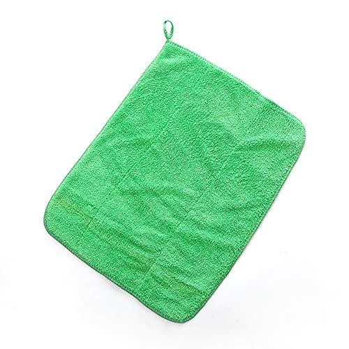 2 Lumpen Mikrofaser Reinigungstuch Küchengeschirrtuch Saugfähiges Lappen Reinigungstuch Staubtuch Shop Lappen Baumwolle Geeignet für Garage Auto Körper und Bar,Green
