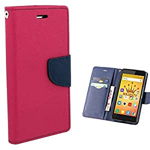 Majesty Wallet Style Flip Cover for Coolpad Note 3 - Pink