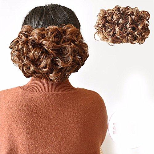 XIAOBAI Cheongsam Perücke flauschige Haarnadel Pull Blume Retro Pfanne Kopf Schnalle Stil Ball Blume Hacke Kopf Braut Haar Haar Simulation Haartasche, Leinen