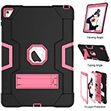 TianTa Funda iPad Air 2 Híbrido Tres Capas PC + Silicona Funda Carcasa a Prueba de