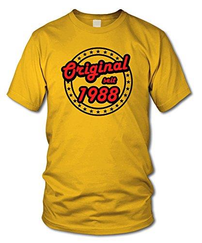 shirtloge - ORIGINAL SEIT 1988 - KULT - Geburtstags T-Shirt - in verschiedenen Farben & Größen Gelb