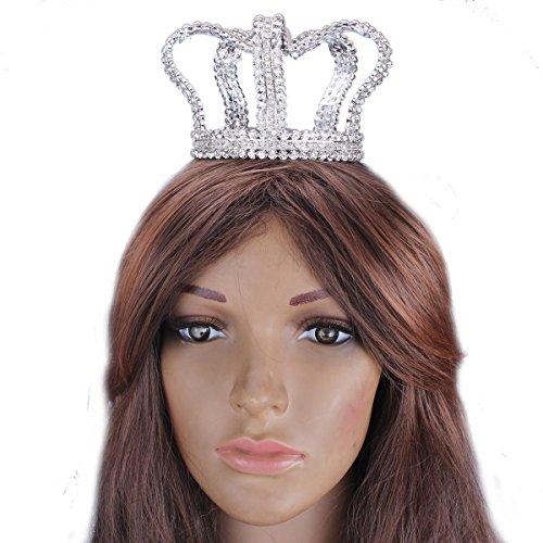 Santfe novia, Pearl Rhinestone tiaras corona de Full Circle redondo pequeño Cumpleaños, diseño de boda Prom Accesorios para el pelo