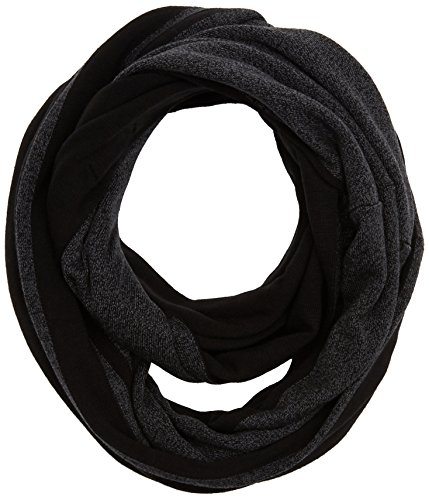 TOM TAILOR Herren Schal Loop Scarf with Stripe Detail Schwarz (Black 2999), One Size