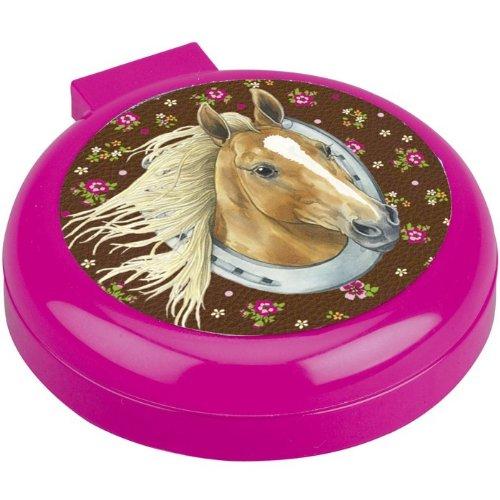 Preisvergleich Produktbild Spiegelburg 90336 Taschenbürste mit Spiegel Pferdefreunde