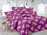 Mee Pra Floral double bedsheet with 2 pi...