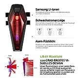 SUNSPEED Fahrradlicht Set/Fahrradbeleuchtung/Fahrradlampe, inkl. Frontlich und Rücklicht,50 LUX (260 Lumen),StVZO zugelassen(K1330 )