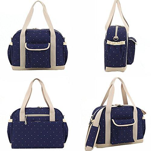 Paonies Kinder Baby Tasche Pflegetasche Tragetasche Wickeltasche Windeltasche für Kinderwagen Reise (Blau) Blau