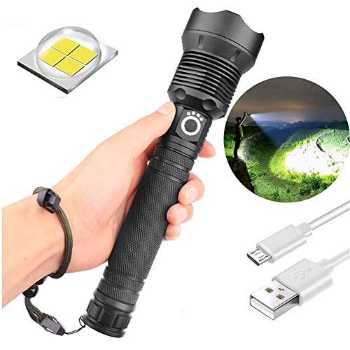 Potente linterna telescópica LED Linterna zoom USB