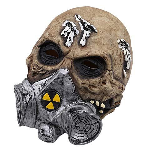 WULIHONG-MaskeCreepy Scary Kostüm Maske für Erwachsene Party Horror Prop Halloween Zubehör Halloween Cosplay Halloween - Scary Kostüm Mit Gasmasken