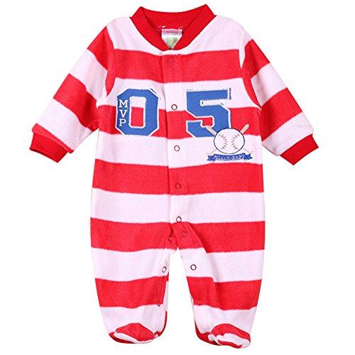 hibote Ragazze Neonato Pagliaccetto Pile Sleeper Footed Pajamas Infant Vestiti Bambino Appena Nato Style (Non Sleeper)