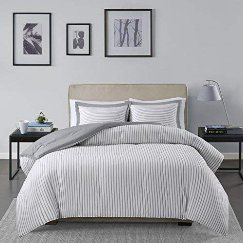 Madison Park Bettwäsche-Set Casual King/Cal King Size grau