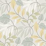 BHF 2535-20628 - Eden Leaf Modern Trail Wallpaper - Azul