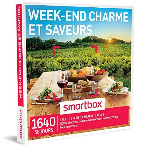 SMARTBOX - Coffret Cadeau homme femme couple - Week-end charme et saveurs - idée...