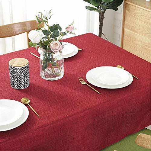 SONGHJ Baumwolle Leinen Einfarbig Tischdecken Rechteck Wasserdicht Antifouling Staubdicht Tischdecken Hochzeit Heimtextilien Tischdecke D 70 × 70 cm -