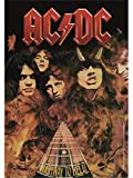 Heart Rock, bandera original AC/DC Highway to Hell, tela,, 110x 75x 0.1cm