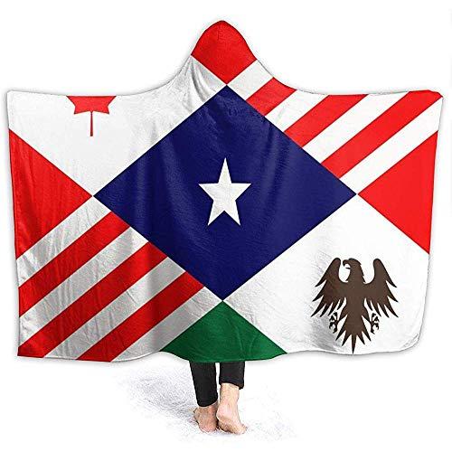 Cathycathy Eine Flagge für eine nordamerikanische Union Hooded Blanket Hooded Throw Wrap Hoodie tragbare Decke mit Kapuze Sherpa Decke -