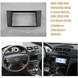 Autostereo marco para radio de automóvil para radio para coches Mercedes-Benz E-Klasse (W211) 2002–2009 cls-klasse 2004-2010 radio estéreo para coches Mercedes-Benz E-Klasse W211 Dash CD incluye set de montaje