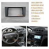 zwnav Autoradio Radioblende Armaturenbrett für Mercedes-Benz E-Klasse (W211) 2002–2009cls-klasse 2004–2010Auto Radio Stereo Faszie Mercedes-Benz E-Klasse W211Stereo Faszie Dash CD Trim Installation Kit