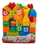 #4: Electrobot Building Blocks Play Learn Set,Learning Blocks For Kids With Cartoon Figures, Bag Packing, Best Gift Toy, Multi color (Set Of 40 PCs)