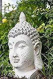 Tinas Collection Buddha Kopf wetterfest in weiß, 54 cm groß