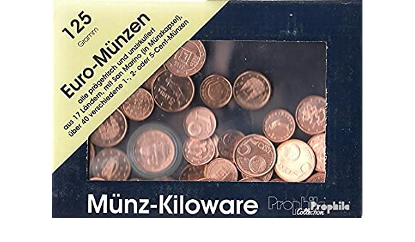 Europe 125 Grams Münzkiloware With About 40 Different Euro Cent