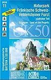 UK50-11 Naturpark Fränkische Schweiz-Veldensteiner Forst, südl.Teil: Erlangen, Lauf an der Pegnitz, Veldenstein, Hersbruck, Ebermannstadt, ... Karte Freizeitkarte Wanderkarte) -
