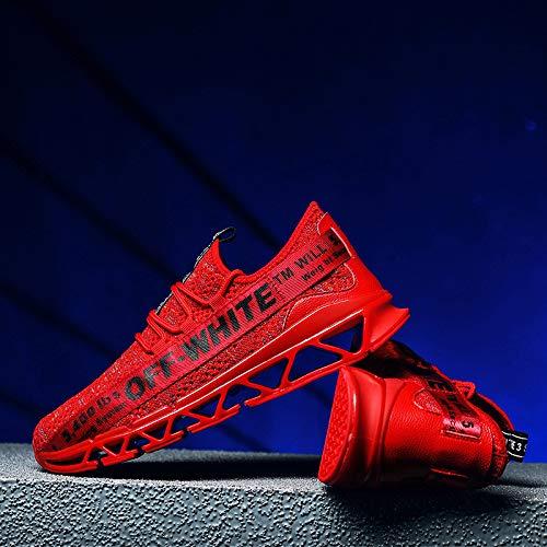 LOVDRAM Scarpe Casual Scarpe Da Corsa Traspiranti Scarpe Casual Scarpe Da Corsa Scarpe Uomo Scarpe Sportive Autunno Scarpe Da Corsa Traspiranti Fuoco, Rosso, 42