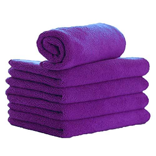 ZYTC Waschanlage Detaillierung Handtücher Mikrofaser Polieren Wachsen Waschen Trocknen Reinigungstuch Tuch Lila 30 x 70cm Pack von 5 -