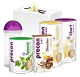 Precon BCM Diät Neujahrspaket - 34 Shake Portionen - 25 Portionen Special Kräuter - 3er Packung Riegel - 1 Handbuch - 1 Shaker