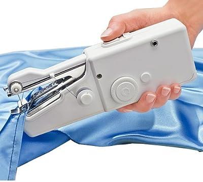 VanseRun Mini Máquina de Coser Portátil, Herramienta Manual Portátil Herramienta de Puntada Rápida para Tela, Ropa o Tela de Niños