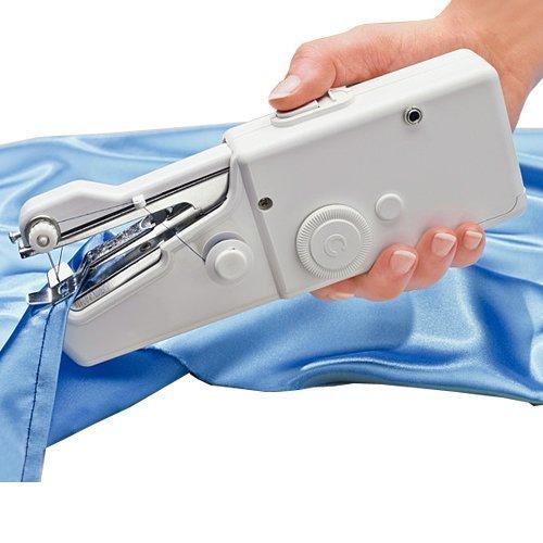 VanseRun DIY Mini Nähmaschine, Tragbare Handnähmaschine Schnellstichwerkzeug, AA Batteriebetrieben für Kleidung Stoff, Vorhang, Schal