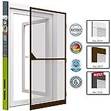 Insektenschutz Tür Türen mit Alurahmen 100 x 215cm proLINE braun