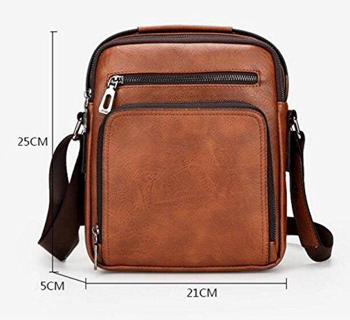 Die Beutel-Schulterbeutelart Der Art Und Weise Schiefes Kreuzpaket-Handtaschen-Aktenbeutel Große Kapazität Brown1