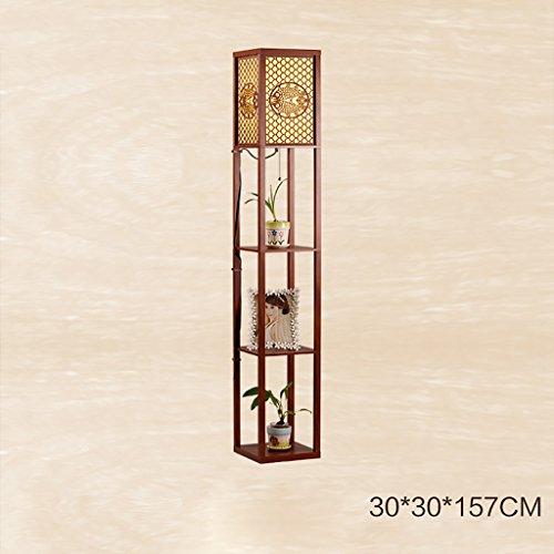 ZXLDD Stehleuchte Regal Nachttischlampe Lichter Wohnzimmer Studie Lampe Bücherregal (Farbe : E) (Bücherregal Braunes)