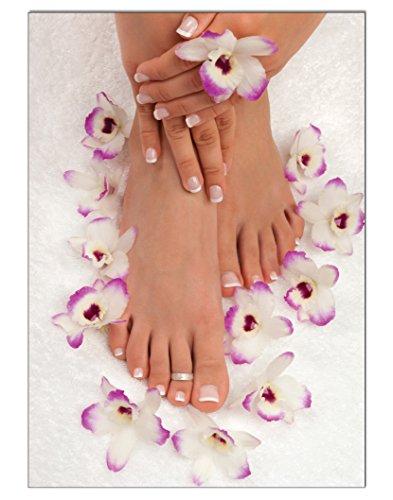 Poster Lila Flower II Pediküre Fusspflege DIN A3 Nagelstudio Nageldesign Nailart Wandgestaltung Kosmetik Nails 29,7x42,0cm