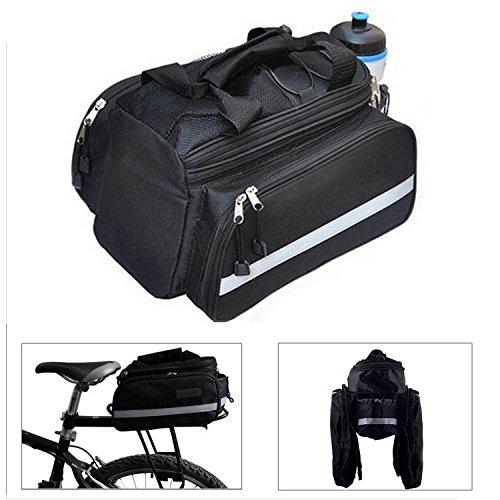 - 51 a0vMWy2L - Black Waterproof Multi Function Excursion Cycling Bicycle Bike Rear Seat Trunk Bag Handbag Bag Pannier Carrying Luggage Backpack