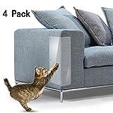 """Zwini Cat Scratch Pads 4 Packs Scratch Cat Trasparente Lucido con perni per Proteggere Il Tuo Arredamento Imbottito Cat Scratch Protector 18""""L X 12"""" W"""