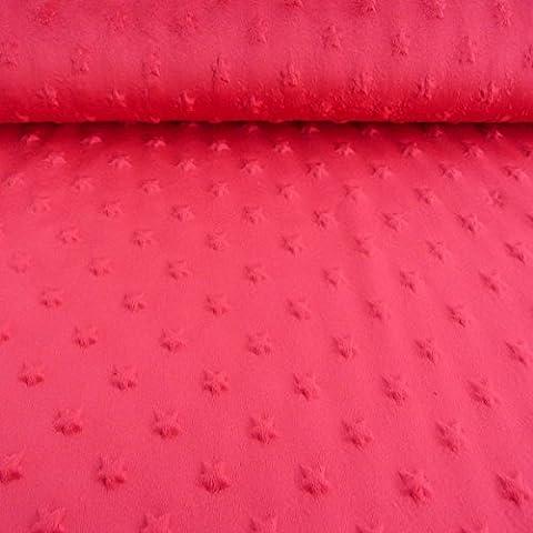 Minky picots en polaire motif étoiles rouge tissu velours fourrure peluche