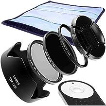 Lumos Connection Creative Juego de accesorios Completo Compatible con Canon Kit EOS 7d Mark II 70d 700d 750d 800d Objetivo EF-S 18–135mm IS STM/disparador remoto RC de 6& Parasol EW-73B & 67mm Filtro UV & filtro polarizador cpl & Gris Filtro de densidad neutra 1000& Tapa de objetivo & filtro de funda