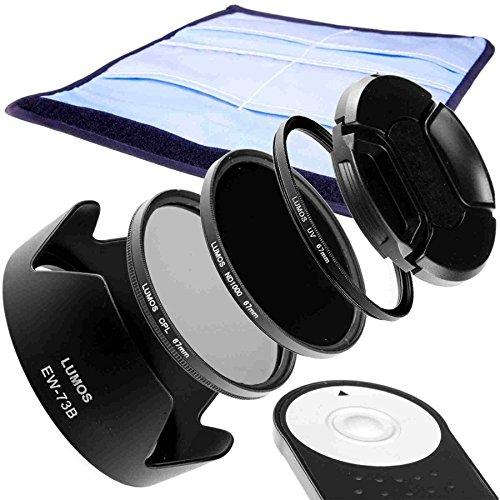 Galleria fotografica Lumos Connection Creative di set pieno Kit compatibile con Canon EOS 7d Mark II 70d 700d 750d 800d obiettivo EF-S 18–135mm IS STM/scatto remoto RC 6& paraluce EW-73B & 67mm Filtro UV CPL Filtro polarizzatore & & Grigio Filtro ND 1000& Obiettivo del coperchio e filtro di alta qualità