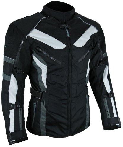 HEYBERRY Touren Motorrad Jacke Motorradjacke Textil schwarz grau - Motorrad-jacke