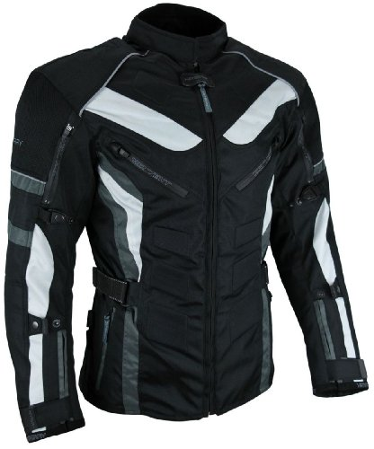 *Heyberry Touren Motorrad Jacke Motorradjacke Textil schwarz grau Gr.L*