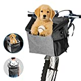 Arkmiido Borsa da Bicicletta per Animali Domestici, Zaino Cane Gatto Trasportino,Portabicicletta per animali da compagnia,Borsa multifunzionale 3 in 1 per bicicletta per cani con tracolla