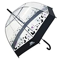 Trespass Papillon, Butterfly Print, Transparent Umbrella, Black