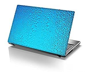 "Snoogg Blue Water Drops Designer Designer Laptop Skin Sticker for 14 to 15"" Laptops"
